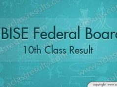 Federal Board 10th Class Result 2018