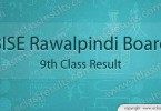 BISE Rawalpindi board 9th class result 2017
