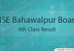 BISE Bahawalpur board 9th class result 2017