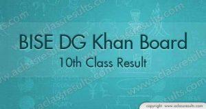 DG Khan 10th Class Result 2018