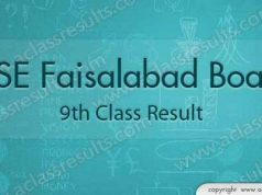 Faisalabad Board 9th class result 2018