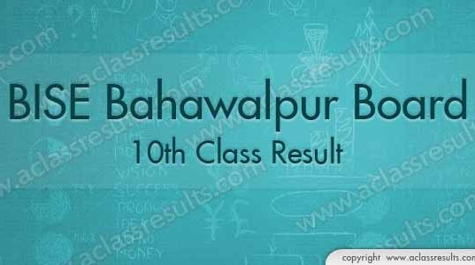 Bahawalpur 10th Class Result 2018