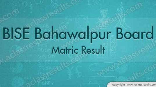 Bahawalpur Matric Result 2018